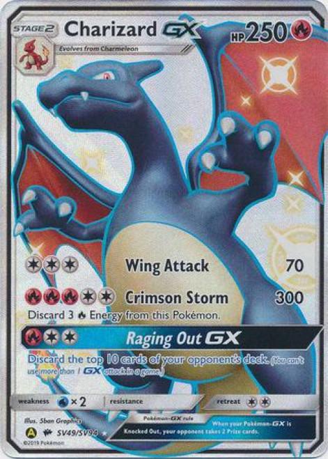 Pokemon Trading Card Game Hidden Fates Ultra Rare Charizard GX SV49