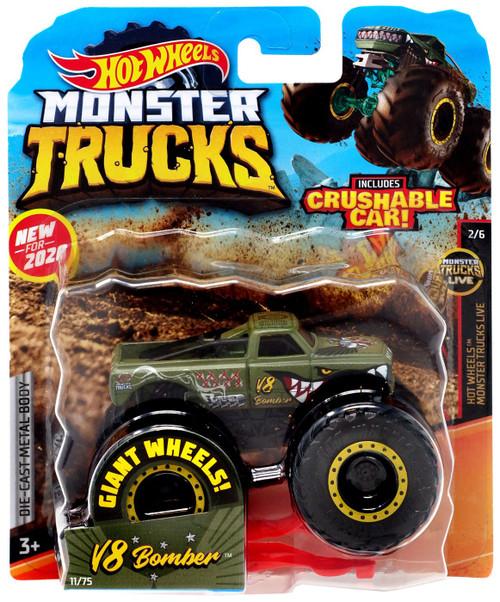 Hot Wheels Monster Trucks V8 Bomber Diecast Car [Green]