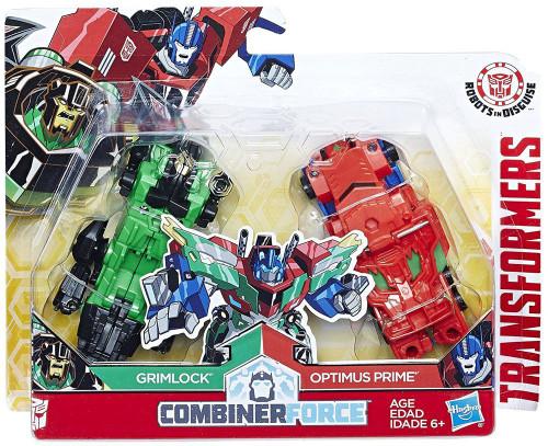 Transformers Robots in Disguise Grimlock & Optimus Prime Action Figure [Crash Combiner, Damaged Package]