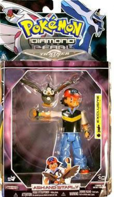 Pokemon Diamond & Pearl Trainer Sets Ash & Starly Exclusive Action Figure Set [Damaged Package]