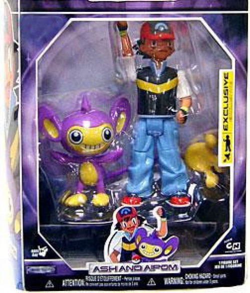Pokemon Diamond & Pearl Trainer Sets Ash & Aipom Exclusive Action Figure Set [Damaged Package]