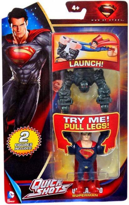 Man of Steel Quick Shots Superman Figure [Ultrahero, Damaged Package]