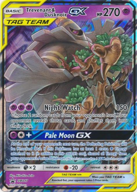 Pokemon Sun & Moon Promo Ultra Rare Trevenant & Dusknoir GX SM217