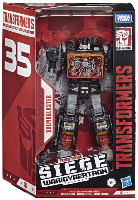Transformers Generations War for Cybertron: Siege Soundblaster Exclusive Voyager Action Figure WFC-S55