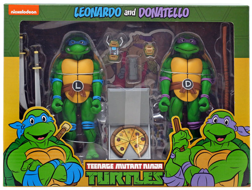 NECA Teenage Mutant Ninja Turtles Leonardo & Donatello Exclusive Action Figure 2-Pack