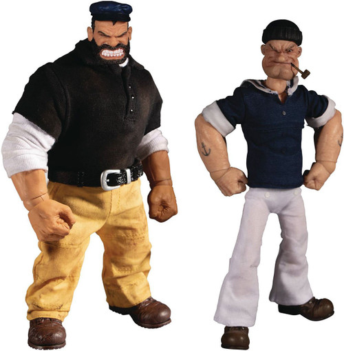 One:12 Collective / Mezco One:12 Collective Popeye & Bluto Action Figure 2-Pack [Stormy Seas Ahead] (Pre-Order ships January)