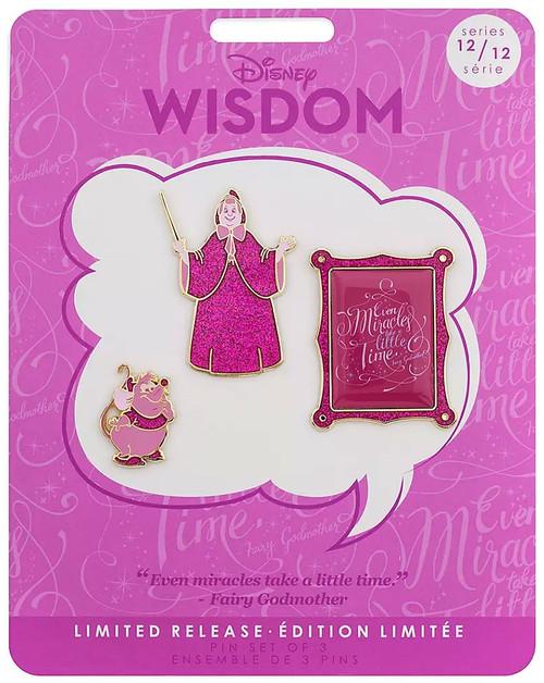 Disney Wisdom Cinderella Exclusive Pin Set