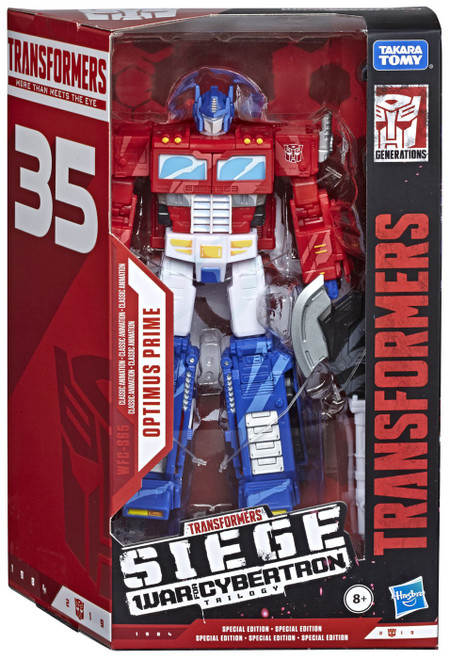Transformers Generations Siege: War for Cybertron Trilogy Optimus Prime Exclusive Voyager Action Figure WFC-S65 [Classic Animation]