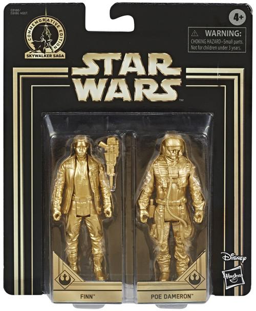 Star Wars The Force Awakens Skywalker Saga Finn & Poe Dameron Action Figure 2-Pack [Gold Figures]