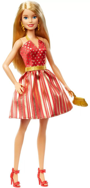 2019 Holiday Barbie Doll [Blonde, Damaged Package]