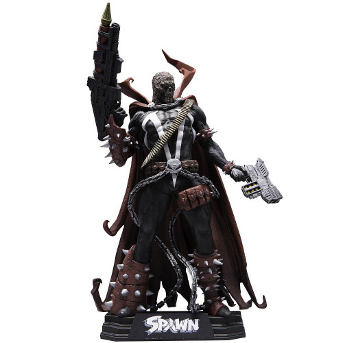 McFarlane Toys Spawn: Rebirth Color Tops Blue Wave Spawn Exclusive Action Figure #11 [Unmasked - Hamburger Head , Damaged Package]