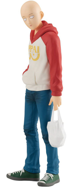 One Punch Man Pop Up Parade Saitama 6.5-Inch Collectible PVC Figure [Oppai Hoodie]