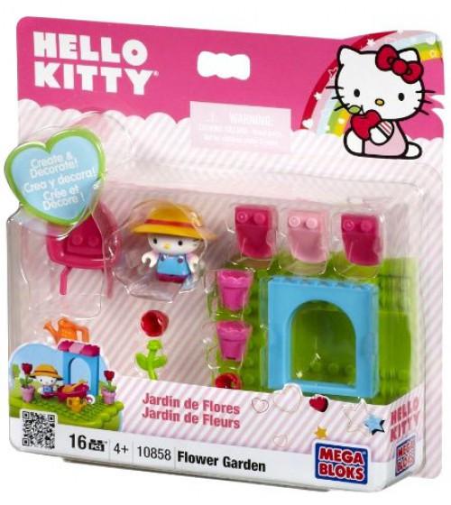 Mega Bloks Hello Kitty Flower Garden Set #10858 [Damaged Package]