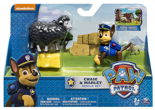 Paw Patrol Chase & Marley Rescue Set Figure [Damaged Package]
