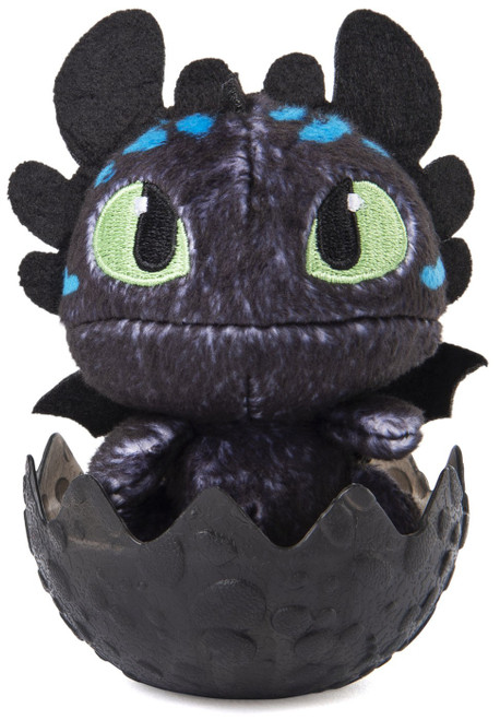 How to Train Your Dragon The Hidden World Baby Toothless 3-Inch Egg Plush [Blue Spots]