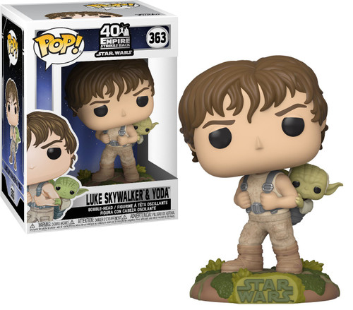 Funko Star Wars POP! Vinyl Training Luke with Yoda Vinyl Figures