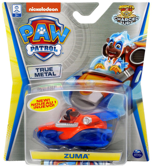 Paw Patrol Mighty Pups Charged Up True Metal Zuma Diecast Car [Mighty Pups Charged Up]