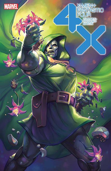 Marvel X-Men & Fantastic Four #2 of 4 Comic Book [Meghan Hetrick Flower Variant Cover]