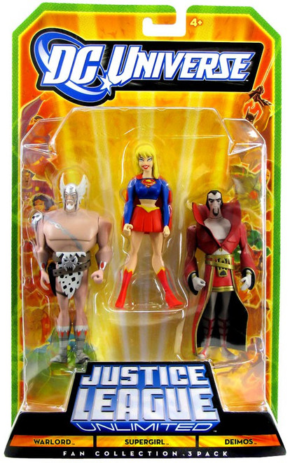 DC Universe Justice League Unlimited Warlord, Supergirl & Deimos Action Figures [Damaged Package]