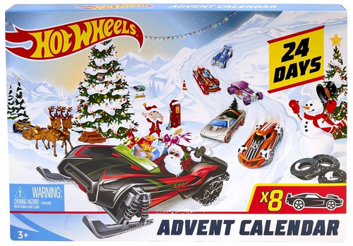Hot Wheels 2019 Holiday Hot Rods Advent Calendar [Damaged Package]