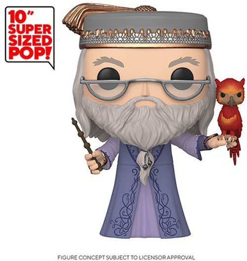 Funko Harry Potter POP! Movies Dumbledore with Fawkes 10-Inch Vinyl Figure [Super-Sized]