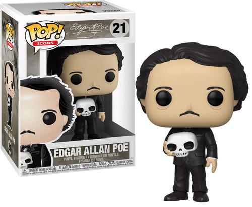 Funko POP! Icons Edgar Allan Poe Vinyl Figure #21 [Holding Skull]