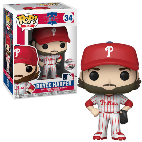 Funko MLB Philadelphia Phillies POP! Sports Baseball Bryce Harper Vinyl Figure #34