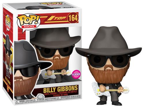 Funko ZZ Top POP! Rocks Billy Gibbons Vinyl Figure #164 [Flocked]