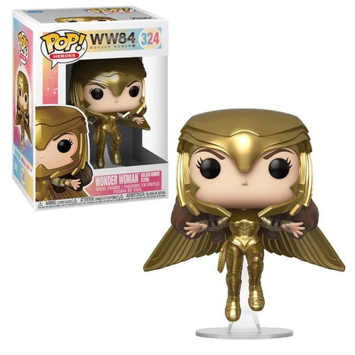 Funko DC Wonder Woman 1984 POP! Movies Wonder Woman Gold Flying Vinyl Figure [Metallic]