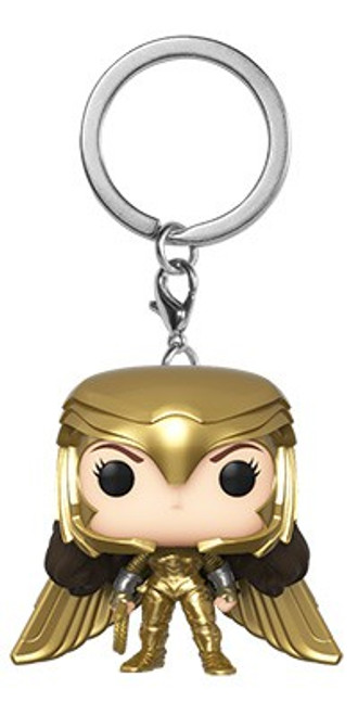 Funko DC Wonder Woman 1984 Movie POP! Heroes Wonder Woman Gold Power Pose Keychain
