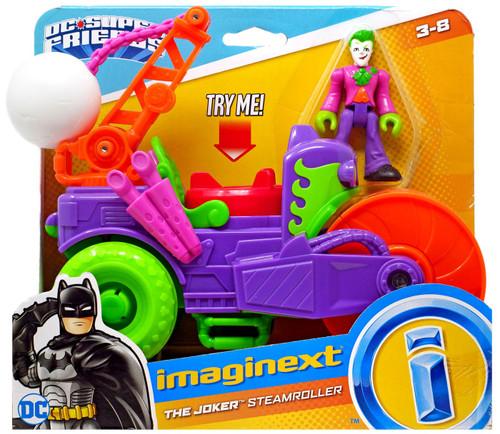 Fisher Price DC Super Friends Batman Imaginext The Joker Steamroller 3-Inch Figure Set