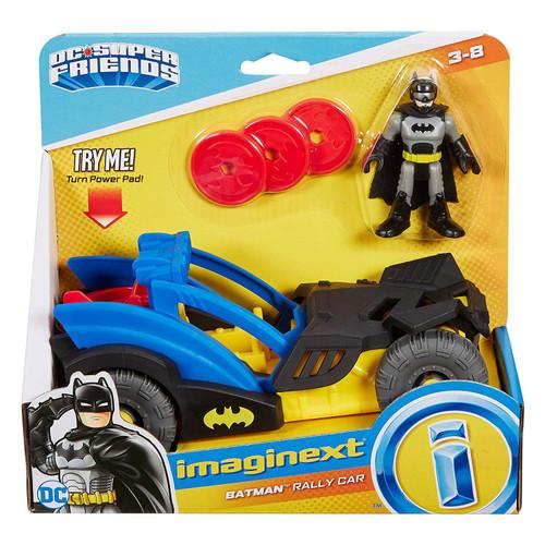 Fisher Price DC Super Friends Imaginext Gotham City Batman Rally Car Figure Set