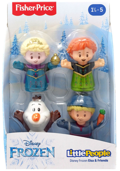 Fisher Price Disney Frozen Little People Anna, Elsa, Olaf & Kristoff Playset