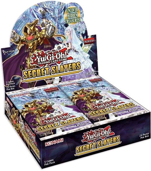 YuGiOh Trading Card Game Secret Slayers Booster Box [24 Packs]