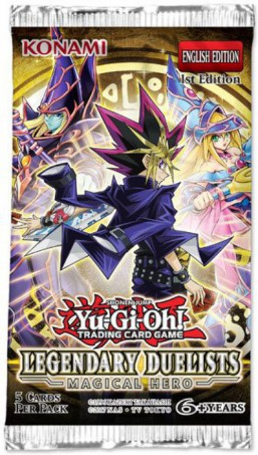 YuGiOh Trading Card Game Legendary Duelists Magical Hero (1st Edition) Booster Pack