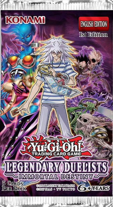 YuGiOh Trading Card Game Legendary Duelists Immortal Destiny Booster Pack [5 Cards]