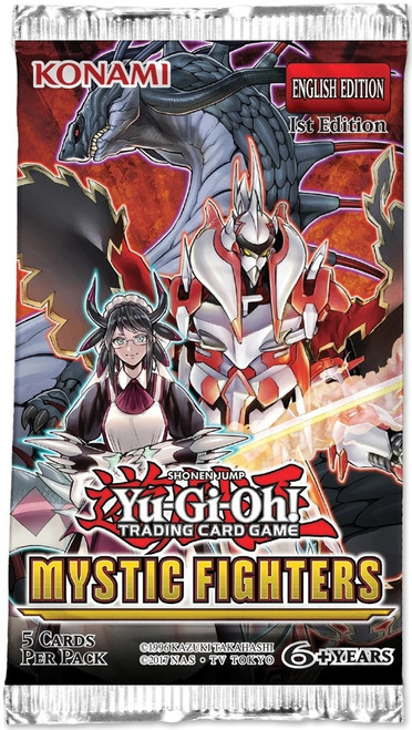 YuGiOh Trading Card Game Mystic Fighters Booster Pack [5 Cards]