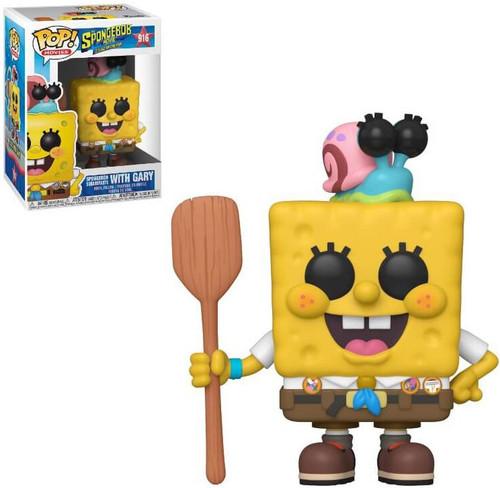Funko Sponge on the Run Movie POP! Animation SpongeBob SquarePants with Gary Vinyl Figure #916 [Camping Gear]
