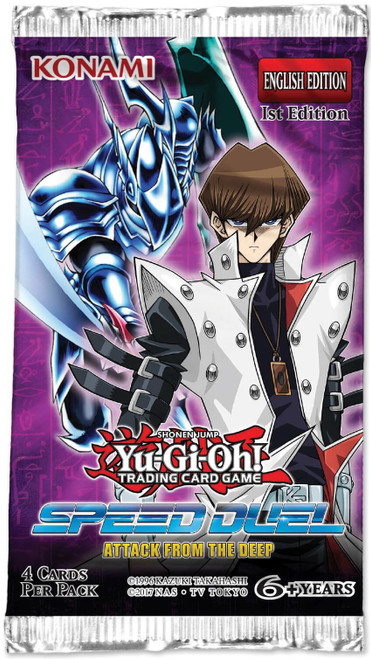 YuGiOh Trading Card Game Speed Duel Attack from the Deep Booster Pack