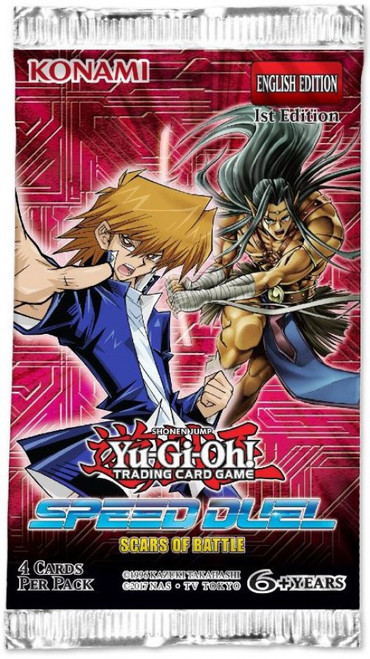 YuGiOh Trading Card Game Speed Duel Scars of Battle Booster Pack
