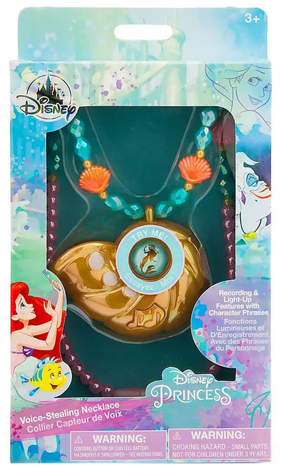 Disney Princess The Little Mermaid Ariel Voice-Stealing Necklace Exclusive Dress Up Toy [2019]