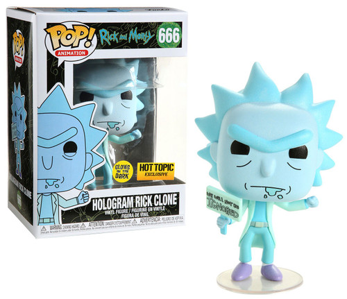 Funko Rick & Morty POP! Animation Hologram Rick Clone Exclusive Vinyl Figure #666 [Glow-in-the-Dark]