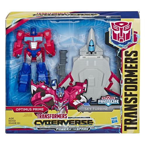 Transformers Cyberverse Power of the Spark Spark Armor Optimus Prime Elite Class Action Figure [Sky Turbine]