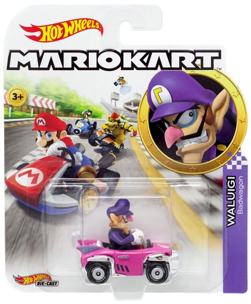 Hot Wheels Mario Kart Waluigi Diecast Car [Badwagon]