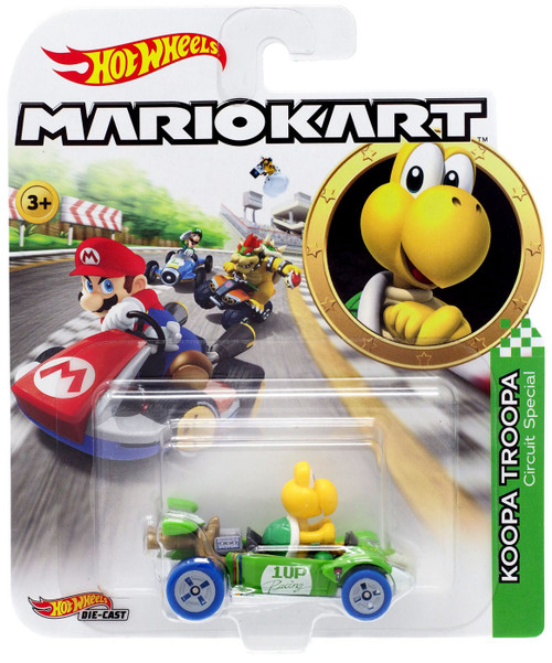 Hot Wheels Mario Kart Koopa Troopa Circuit Special Diecast Car