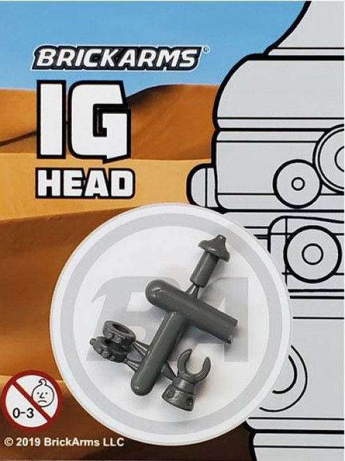 BrickArms Star Wars IG Head 2.5-Inch [Gray]