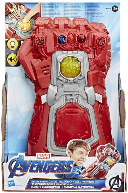 Marvel Avengers Endgame Red Infinity Gauntlet Electronic Fist Role Play Accessory [Lights & Sounds]