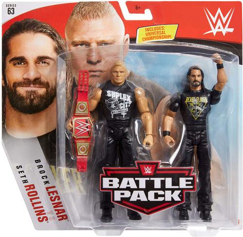 WWE Wrestling Battle Pack Series 63 Seth Rollins & Brock Lesnar Action Figure 2-Pack