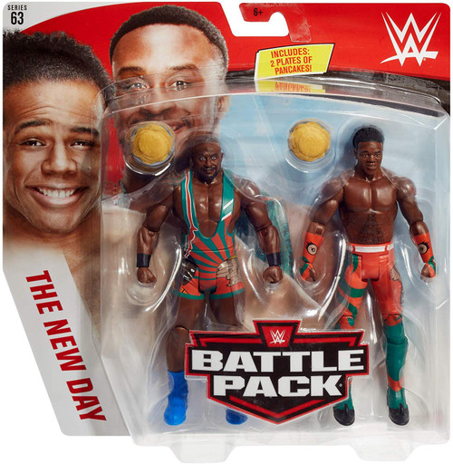WWE Wrestling Battle Pack Series 63 Big E & Xavier Woods Action Figure 2-Pack [New Day]