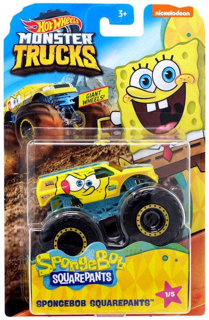 Hot Wheels Monster Trucks Spongebob Squarepants Diecast Car #1/5